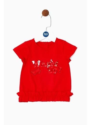 BG Baby Kız Bebek Kırmızı T-Shirt 19SS0BG2533 Kırmızı